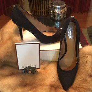 Black Coach Signature Heels